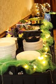Table Buffet Decorations by Decorate Buffet Table W Tulle U0026 Christmas Lights For Heather