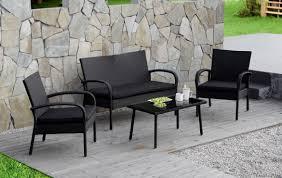 Textilene Patio Furniture by Cloud Mountain 4 Pc Rattan Conversation Set Patio Outdoor Wicker