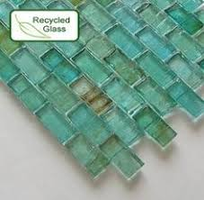 Recycled Glass Love The Opalescent Turquoise And Sea Green - Recycled backsplash