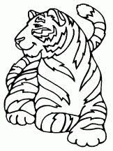tiger coloring pages for kids print and color the pictures