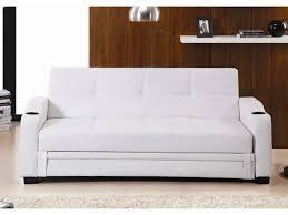 canapé convertible blanc simili cuir canapé convertible clic clac simili mirella noir ou blanc