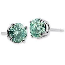 moissanite earrings forever brilliant 1 carat green moissanite stud earrings