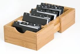 buy business card holder bamboo expandable business card holder with alphabet index tabs