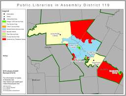 New York Map Districts by Libraries In New York State Assembly District 119 Library