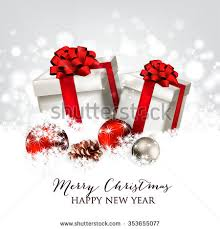 merry happy new year card stock vector 353573162