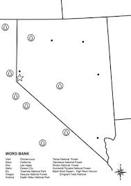 printable map of nevada nevada map worksheet coloring page free printable coloring pages