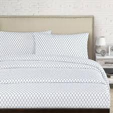 Percale Sheet Set Echelon Home Fence 250 Thread Count Cotton Percale Sheet Set