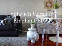 safavieh ceramic elephant stool home decor youtube