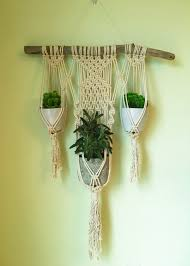 macrame wall plant hanger by beeweaveitorknot on etsy living