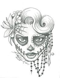 easy indian skull drawing clipartxtras
