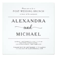 post wedding brunch invitation post wedding brunch invitations announcements zazzle