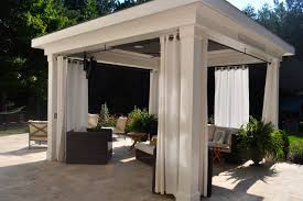 Outdoor Cabana Curtains Pool Cabana Traditional Patio By Sunmar Construction