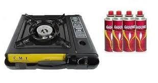 portable table top butane stove new portable single burner butane gas cing stove w hard case