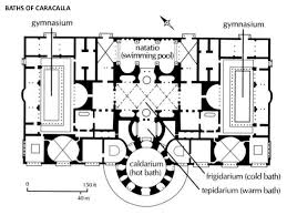 baths of caracalla floor plan unit 02e roman architecture and town planning