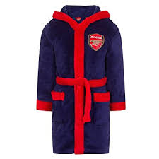 robe de chambre amazon garçon officiel arsenal fc gunners à capuche peignoir robe de