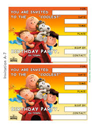 Printable Party Invitation Cards Free The Peanuts Movie Printable Party Decoration Pack