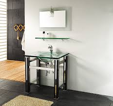 jjt 31 inch modern tempered glass bathroom vanity contemporary style