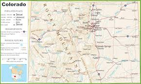 Map Of Denver Colorado by Colorado Highway Map