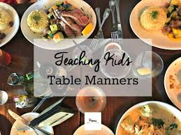 table manners 5 table manners every kids should know mamachallenge com