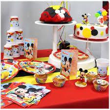 vaisselle jetable fete assiettes mickey déco anniversaire enfant féezia