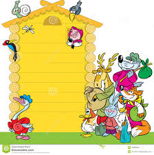 cartoon house for animals stock vector image 42995822