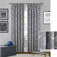 boys bedroom curtains better homes and gardens arrows boys bedroom curtain panel walmart com