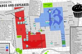 Gangs Chicago Map by Mapping Gangs And Cupcakes In San Francisco U0027s Mission Eater