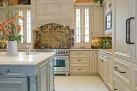 cabin remodeling off white cabinets with glaze traditional