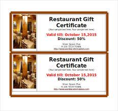restaurant gift card food gift certificate template 18 restaurant gift certificate