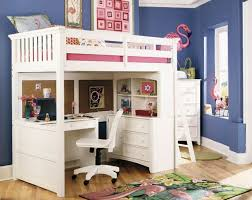 contemporary high bunk bed with desk underneath desk with bed on