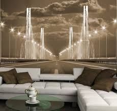 3d Wallpaper Interior Living Room Idea Bridge 3d Photo Wallpaper Wall Mural