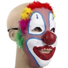 everything floats with clowki the evil clown mask 3 4 head men s