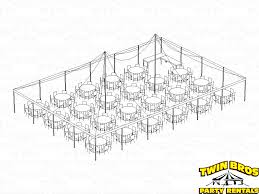 40x60 pole tent layouts pictures diagrams rentals