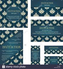 Invitation Cards Size Set Of Invitation Cards In Different Size And Formats Elegant