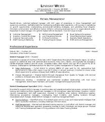 store manager sample resume retail store manager resume sample