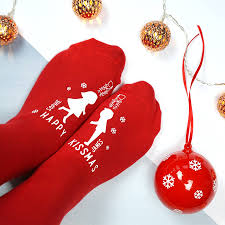 personalised happy kissmas bauble socks by sparks clothing
