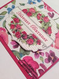 gettin u0027 crafty stampin u0027 with jamie artful roses happy birthday card