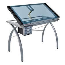 bureau dessinateur table à dessin futura argent studio designs chez rougier plé