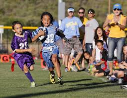 Coed Flag Football Girls Tearing It Up In Flag Football League The San Diego Union