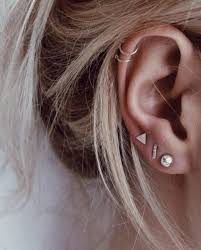 ear earring best 25 3 ear piercings ideas on ear peircings