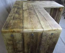 corner desks chunky reclaimed furniture handmade in somerset