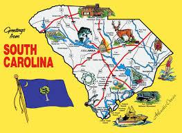 carolina world map pictorial travel map of south carolina