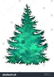 christmas tree silhouette isolated on white stock vector 500117728