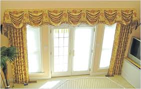 modern red elegant curtains with valance with floral motif make it