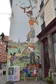 119 best comics murals images on pinterest urban art drawings brussels