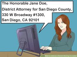 how to address a district attorney in a letter 6 steps