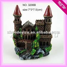 fish tank decoration of polyresin castle large aquarium ornaments