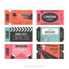 modern movie tickets vector free download