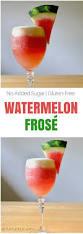 watermelon frosé frozen rosé cocktail sinful nutrition