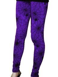 clarabella leggings halloween spider web black purple 8 10